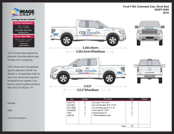 Ford F150 Extended Cab, SB 2013 - Homelife - Complete Kit