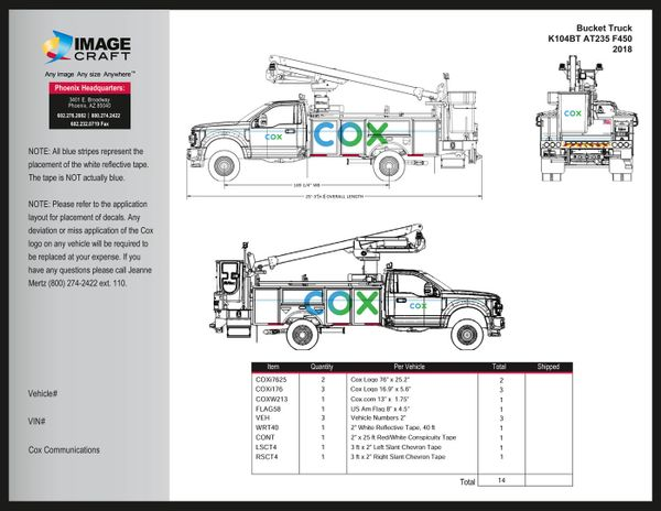 Bucket Truck Ford F450 2018 (K104BT AT235) - Complete Kit