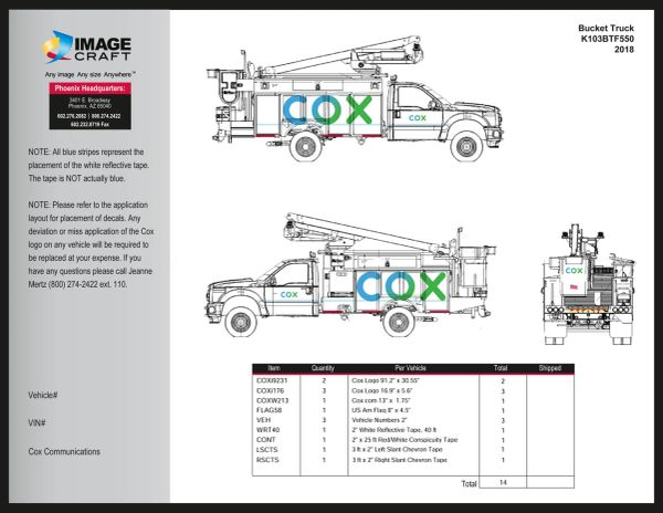 Bucket Truck - Ford F550 (K103-BT-F550) - Complete Kit