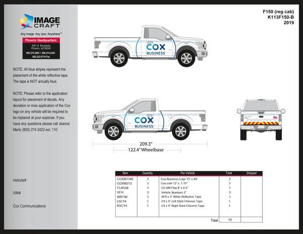 Ford F150 Reg Cab - 2019 - Complete Kit