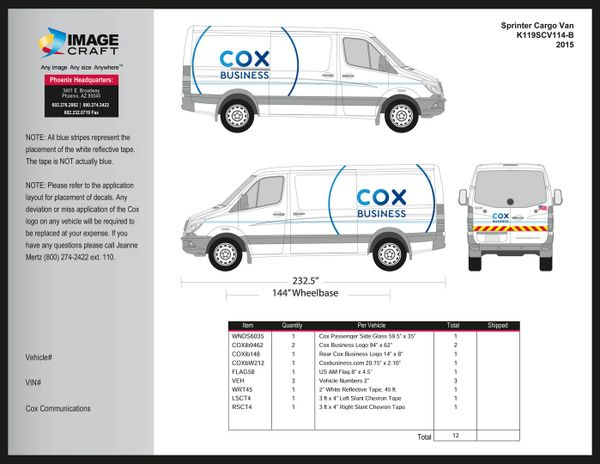 Sprinter Cargo Van - 2015 - A la Carte