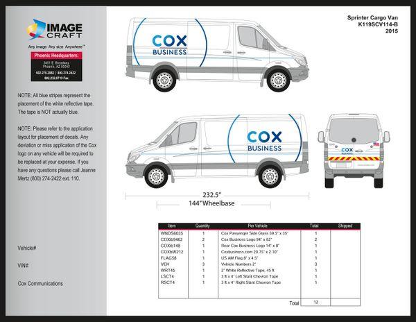Sprinter Cargo Van - 2015 - Complete Kit