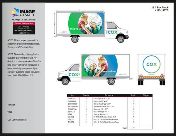Box Truck 15ft - A la Carte