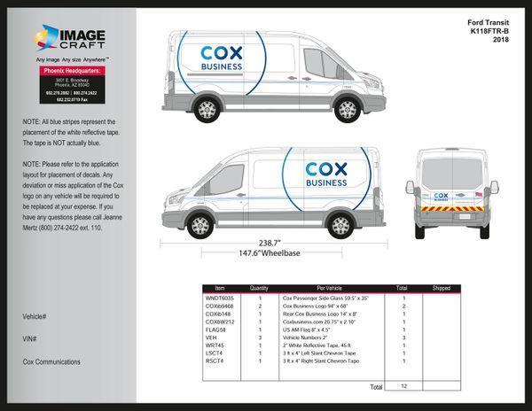 Ford Transit - 2018 - Complete Kit