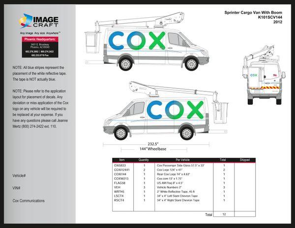 Sprinter Cargo Van (144 WB) With Boom 2012 - A la Carte