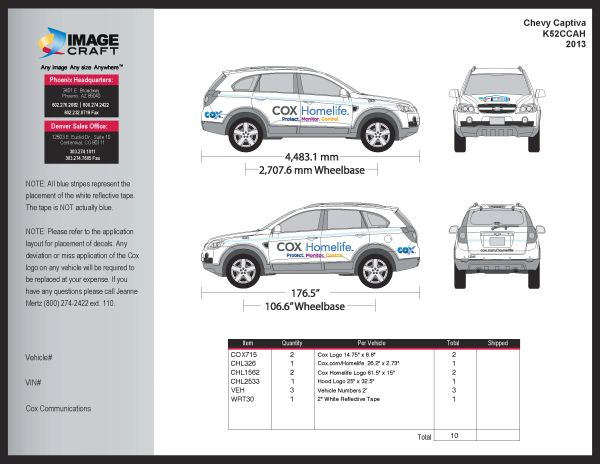 Chevy Captiva 2013 - A La Carte