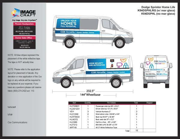 Dodge Sprinter 2011 - Rear Window - A La Carte