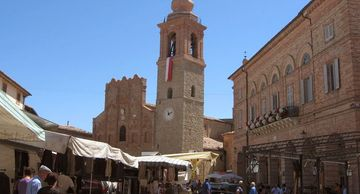 San Ginesio the Province of Macerata in the Marche region Italy