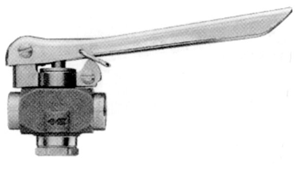 "36-SS -Stainless steel high volume trigger valve with 1/4"" female threads"