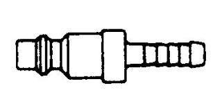 "214HN-SS - 1/4"" NIPPLE W/ 1/4"" HB-STAINLESS STEEL"