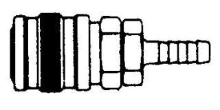 "214HB-SS Series 2 manual coupler, 1/4"" hose barb"