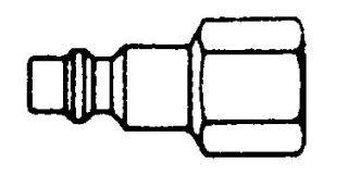 """214FN-B - Series 2 Brass Nipple 1/4"""" NPT (F)"""