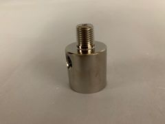 """28MM2-AN - 28mm header with 2 - 1/8"""" female port and 1/4"""" male outlet"""