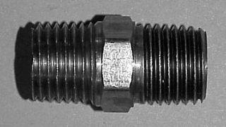 """911B-2D - Brass 1/4"""" NPT (M) Nipple"""
