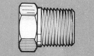 """913B-2D - Brass 1/4"""" NPT (M) Plug"""