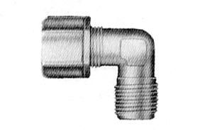"4064CO -3/8"" compression elbow with 1/4"" male thread"