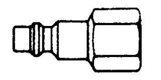 """214FN-SS -Series 2 SS Nipple 1/4"""" NPT (F)"""
