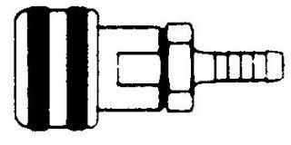 """214HBA - Series 2 Auto Hose Barb Coupler Body 1/4"""""""