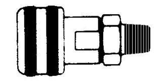 "218MBA - Series 2 Auto Coupler Body 1/8"" NPT (M)"