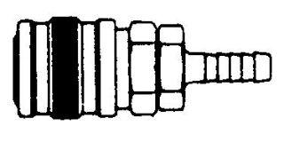 238HB- Series 2 Manual Hose Barb Coupler Body