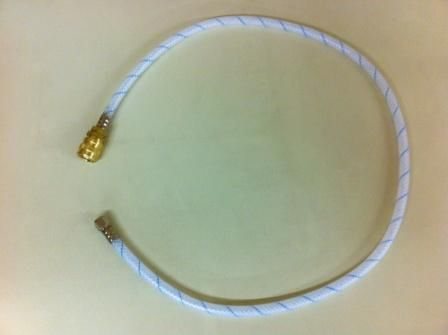 """408C- spray hose 3.5ft w/ straight coupler and 1/4"""" SAE Nut on beverage end"""