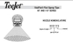 8001VS-8008VS -VisiFlo Flat spray tip