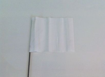 "33505 -White 15"" wire flags"
