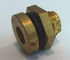 "100897 -Brass Bulkhead Fitting 1/4"" NPT (F)"