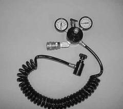 JO102K5-19 -Paintball cylinder regulator with coil hose
