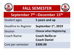 Fall Semester Registration Fee for Chess Masters of Houston