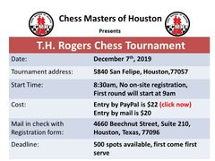T.H.Rogers Chess Tournament, December 7th, 2019