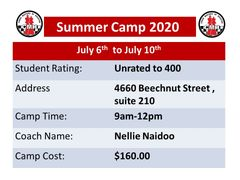 Summer Camp for beginners July 6th to July 10th from 9am to 12pm