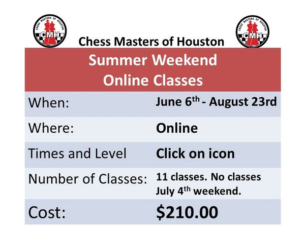 Summer Weekend online classes