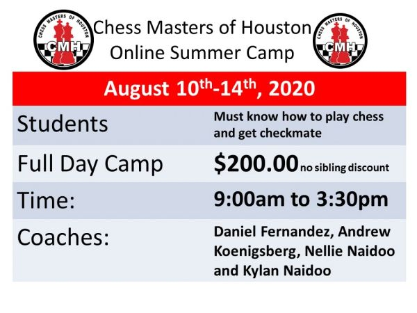 Online Summer camp for k-12 grade all levels, August 10th-14th,2020
