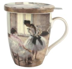 "Tea Mug w/Infuser and Lid Degas ""The Dance Lesson"""