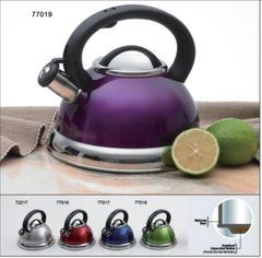 Alexa 3.0 Qt Stainless Steel Tea Whistling Tea Kettle with Capsulated Bottom - Metallic Purple