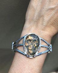 Labradorite Skull Bracelet