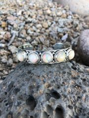 On Hold for Gottagetpic - Beautiful 5 Stone Natural Ethiopian Opal Bracelet