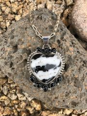 Zebra Marble & Black Onyx Multi-Stone Pendant