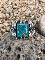 Pilot Mountain Turquoise Leaf Bracelet
