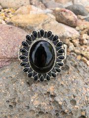 Ex-Large Solid Black Onyx Cluster Bracelet