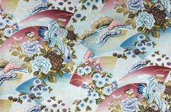 M'doridori Fabric Gift Wrap in Aqua Tsuru