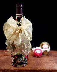 M'doridori Fabric Gift Wrap Daruma Black