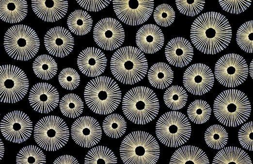 M'doridori Fabric Gift Wrap 24k Series Black