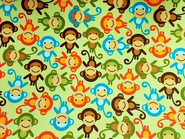 M'doridori Fabric Gift Wrap in Monkeys Abound