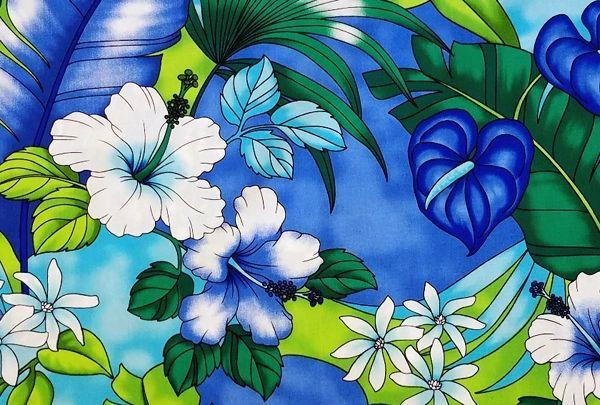 M'doridori Fabric Gift Wrap in Tropical Watercolor Floral