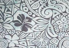 M'doridori Fabric Gift Wrap in Seafoam Tapa