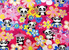 M'doridori Fabric Gift Wrap in Pink Panda
