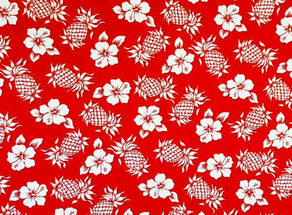 100% COTTON - RED PINEAPPLE - $5.50 PER YARD