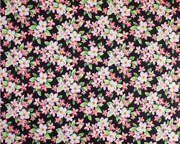 M'doridori Fabric Gift Wrap in Black Plumeria